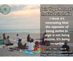 Join Yoga Retreat Institute in India