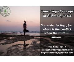 Learn Yoga Concept in Rishikesh, India