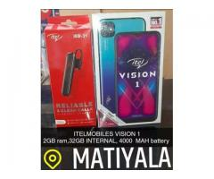 ITELMOBILES VISION 1 DUEL 4G 2GB RAM,32GB INTERNAL 4000 MAH BATTERY BLUE COLOUR