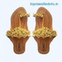 Purely Lush | Buy Handcrafted Ladies Juttis & Kolhapuri Chappals Online