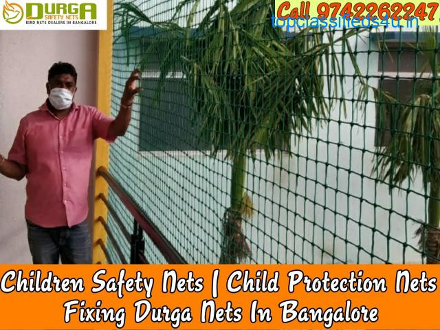 Durga Children safety nets | child nets for balcony in banglore