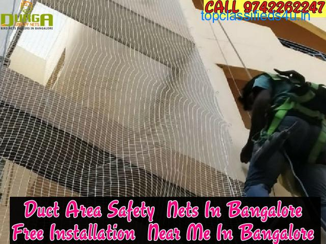 Durga Duct area safety nets | duct anti bird netting |duct pigeon nets in bangalore