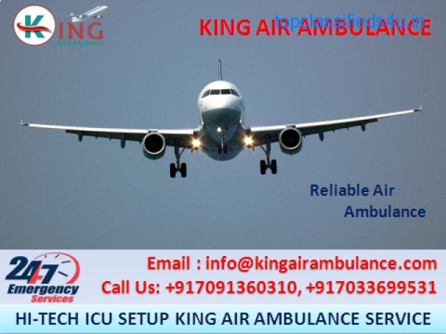 Top and Best ICU Air Ambulance Service in Kolkata by King