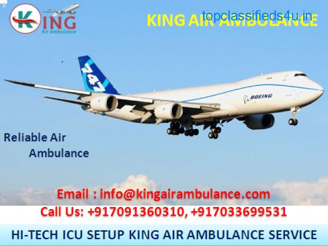 More Credible Air Ambulance Service in Dibrugarh by King