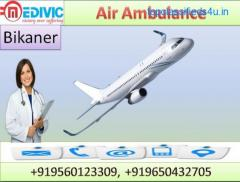 Hire World Best Air Ambulance Service in Bikaner with MD Doctor by Medivic Aviation