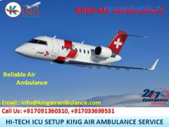 Now Choose Air Ambulance Service in Bhopal by King