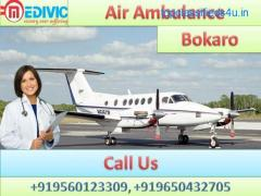 Take Top Class Medivic Aviation Air Ambulance Service in Bokaro with Medical Team