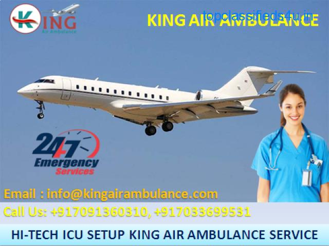 Top-Class ICU Emergency Air Ambulance Service in Jaipur by King