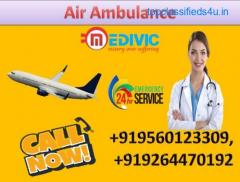 Get Top  Class Air Ambulance Service in Brahmapur by Medivic Aviation