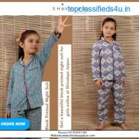 Block Printed Night Suits