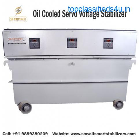Oil Cooled Servo Voltage Stabilizers Manufacturer in Ghaziabad, Delhi
