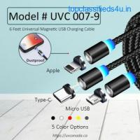 2 Meter magnetic 3 in 1 USB charging cable