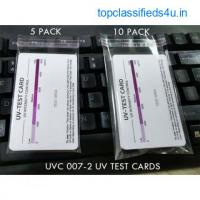 Reusable ultraviolet Light test cards | UV A - UV B & UV C light test card.