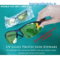 Ultraviolet light Protection Kit Include: UV protective goggles & UV protection gloves.