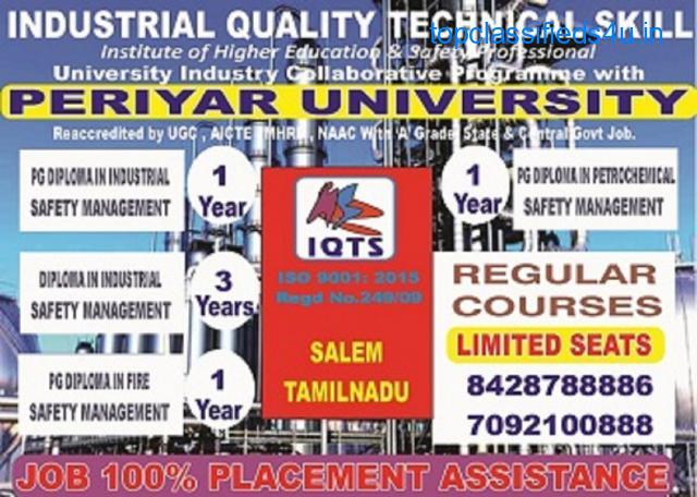 Diploma Industrial Safety Management  course in Tamilnadu