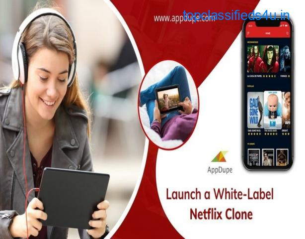 The Netflix clone App offers 24x7 access to various movies and TV shows