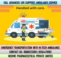 Book Low-Fare Medivic Ambulance Service in Boring Road, Patna