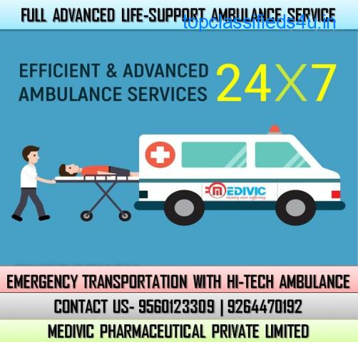 Choose ICU Care Medivic Ambulance Service in Danapur, Patna