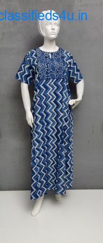 Buy Half Sleeves Nighties - Jaipur Mela