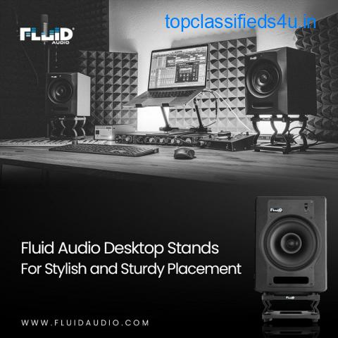 Fluid Audio Desktop Stands For Stylish and Sturdy Placement