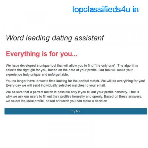 Dating Assistant Match Maker 90% Success Rate