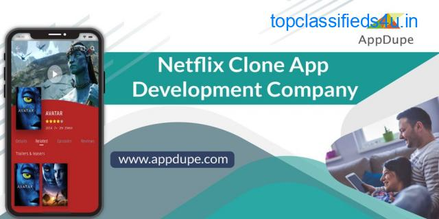 Launch the entertainment specialist Netflix clone app