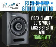 The Fluid Audio FX80 Bi Amp Studio Monitor
