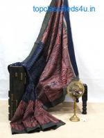 ajrakh print saree