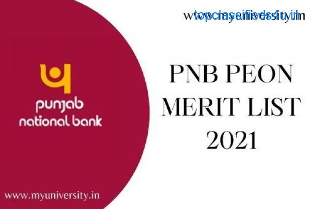 PNB Peon Merit List 2021