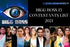 Bigg Boss 15 Contestants List 2021