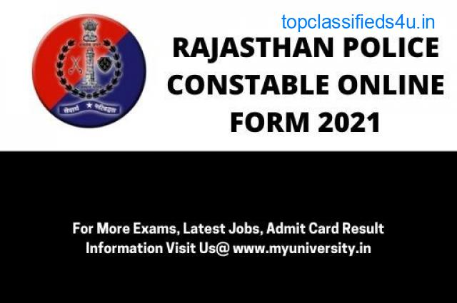 Rajasthan Police Constable Online Form 2021