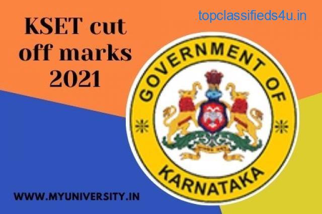 KSET cut off marks 2021