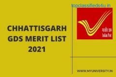Chhattisgarh GDS Merit List 2021