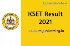 KSET Result 2021