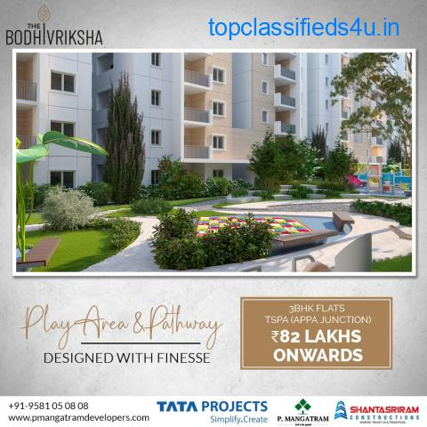 luxury 3 bhk flats for sale at TSPA Junction   PMangatram Developers