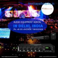 Audio Equipment Rental in Delhi, India