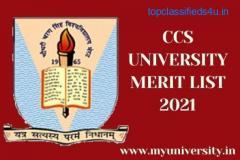 CCS University Merit List 2021