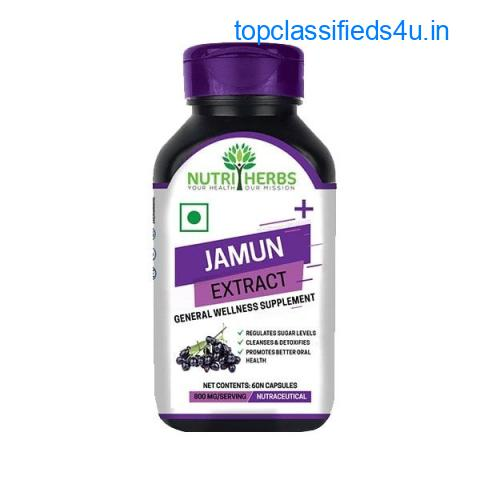 Pure Jamun Seed Capsules for Diabetes|Heebs