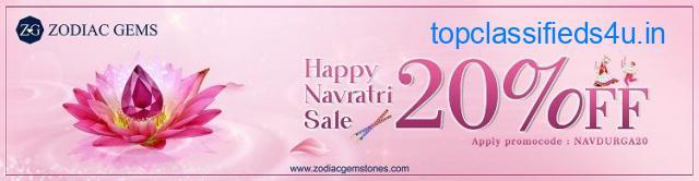 Happy Navratri Sale 2021. Get Upto 20% Off on All Gemstones