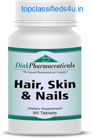 Hair, Skin & Nails with Biotin, Boron, MSM, PABA for Supporting Healthy Hair, Skin and Nails