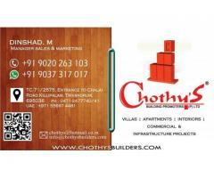 Chothys Arya Luxury Appartments in Trivandrum 9020263103
